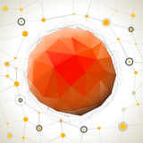 Abstract geometric mosaic ball Royalty Free Stock Photography