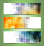 Abstract geometric mosaic banners Stock Photos