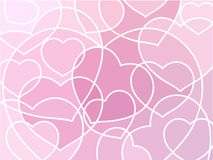 Abstract geometric mosaic hearts background Stock Images