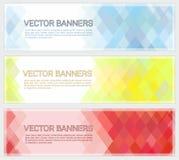 Abstract Geometric Mosaic Horizontal Banners Stock Photos