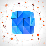 Abstract geometric mosaic rectangle Royalty Free Stock Image