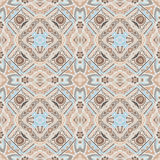 Abstract geometric mosaic seamless pattern. Abstract Tribal indian mosaic motif seamless pattern. Bohemian  Geometric print Royalty Free Stock Photography