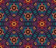 Abstract geometric mosaic seamless pattern. Abstract geometric mosaic vintage ethnic seamless pattern ornamental Royalty Free Stock Image