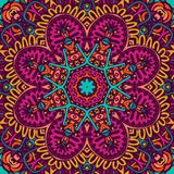 Indian mandala colorful flower festival. Abstract geometric mosaic vintage ethnic seamless pattern ornamental. Mexican design Royalty Free Stock Photos