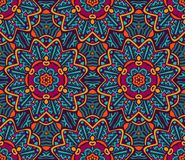 Abstract geometric mosaical ethnic seamless pattern ornament. Abstract Tribal vintage ethnic seamless pattern ornamental. Festive colorful background design Royalty Free Stock Image