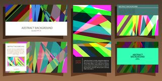 Abstract geometric multicolored background of lines and stripes in different uses vector EPS 10.  Stock Photos