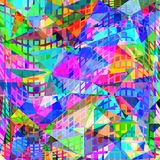 Abstract Geometric Neon Background Stock Image