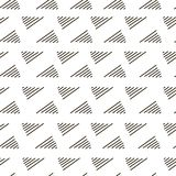 Abstract geometric nook, corner fashion design print pattern. Modern stylish nook, corner texture with monochrome trellis. Repeating geometric grid. Bends Stock Image