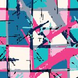 Abstract geometric objects graffiti grunge effect royalty free illustration