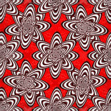 Abstract geometric objects on a red background grunge effect Royalty Free Stock Photos