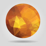 Abstract geometric orange circular shape from triangular faces f Stock Images