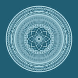 Abstract geometric ornament on a blue background Stock Photo