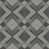 Abstract Geometric Ornament. Endless Monochrome Wallpaper Royalty Free Stock Photos