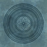 Abstract geometric ornament on a stone background Royalty Free Stock Photo