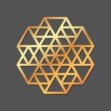 Abstract geometric ornament. Template for laser cutting. Vector. Illustration royalty free illustration