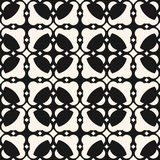 Abstract geometric ornament. Seamless pattern with carved shapes, chains, lattice. Abstract geometric ornament. Vector black and white seamless pattern with Stock Image