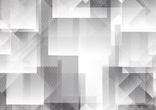 Abstract geometric overlap background modern design Gray and White color, Vector illustration with light and copy space royalty free illustration