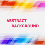 Abstract geometric overlapping colorful background Stock Photo