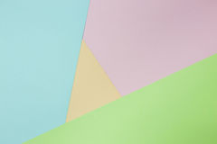 Abstract geometric paper background. Green, pink, orange trend colors Royalty Free Stock Photos