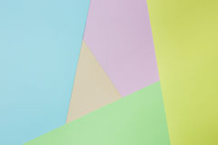 Abstract geometric paper background. Green, yellow, pink, orange, blue trend colors. Concept or idea picture use for copy space Stock Photography