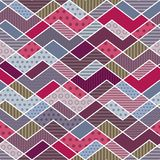 Abstract geometric patchwork pattern Stock Photo