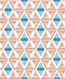 Abstract geometric pattern of angular elements. Muted tones. Stock Photo
