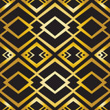 Abstract geometric pattern in art-deco style Stock Photo
