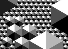Abstract geometric pattern as monochrome background Royalty Free Stock Images