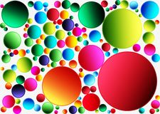 Abstract geometric pattern for the background. Multi-colored circles on a white background Royalty Free Stock Photos
