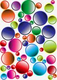 Abstract geometric pattern for the background. Multi-colored circles on a white background Stock Photos