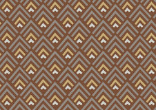 Abstract geometric pattern background   brown gold decoration design   wallpaper backdrop Stock Images