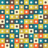 Abstract Geometric Pattern Background With Colorful Squares And Light Circles Stock Image