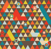 Abstract Geometric Pattern Background With Colorful Triangles And Circles stock illustration