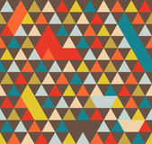 Abstract Geometric Pattern Background With Colorful Triangles Stock Photography