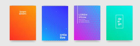 Abstract geometric pattern background with line texture for business brochure cover design poster template royalty free illustration