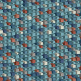 Abstract geometric pattern - blue parallelepipeds Royalty Free Stock Photo