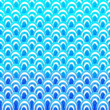 Abstract geometric pattern with blue watercolor wave. Sea background. Royalty Free Stock Image
