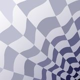Abstract geometric pattern of a checkerboard gray and blue perspective. Royalty Free Stock Images