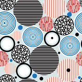 Abstract geometric pattern of circles royalty free illustration