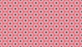 Abstract geometric pattern. Cloth design, wallpaper. Computer generated embroidery pattern with pink circles Stock Photography