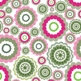 Abstract geometric pattern Coloured floral ornamental seamless b. Ackground Royalty Free Stock Photos