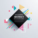 Abstract geometric pattern design and background. Use for modern Stock Image
