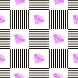 Abstract geometric pattern design. Vector illustration for hipster fashion. White black colors. Stock Images