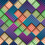 Abstract geometric pattern with diagonal plaid. Royalty Free Stock Photo