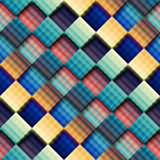 Abstract geometric pattern with diagonal plaid. vector illustration
