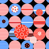 Abstract geometric pattern from different circles Stock Images