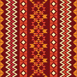 Abstract geometric pattern in ethnic style Stock Photo