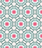 Abstract geometric pattern, floral background. Vector pattern - colorful seamless geometrical background. There is an opportunity to easily change color. You Stock Photo