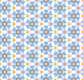 Abstract geometric pattern, floral background. Vector pattern - colorful seamless geometrical background. There is an opportunity to easily change color. You Royalty Free Stock Image