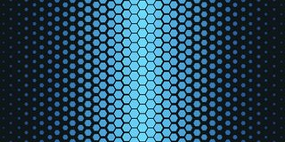 Abstract geometric pattern. Hipster fashion design print hexagonal pattern. Blue honeycombs on a black background. Vector. Royalty Free Stock Image